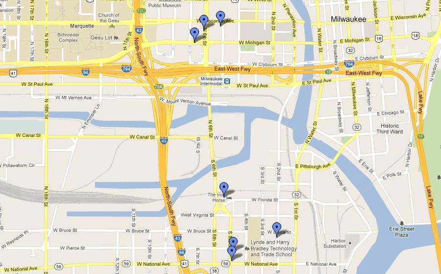 WordCamp Milwaukee Places of Interest